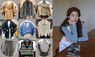 【韓國東大門】套裝|呢子大衣|字母點綴