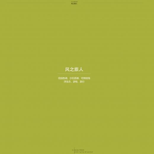 2020春夏 色彩企劃 - 風之旅人